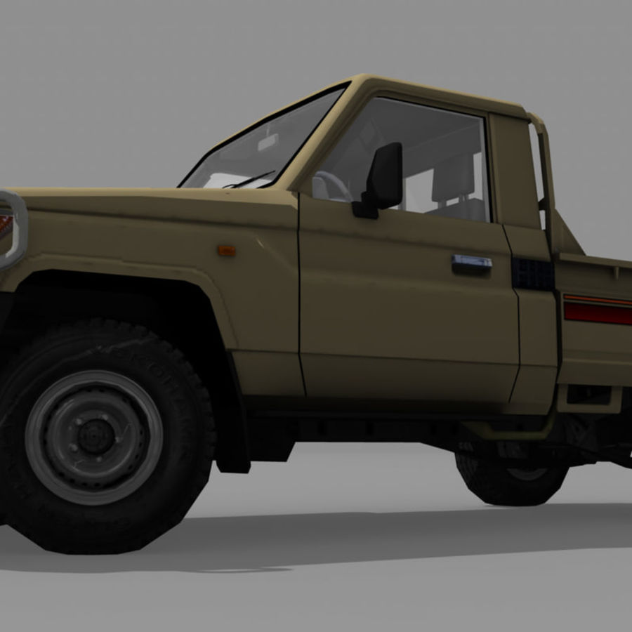 Land Cruiser royalty-free 3d model - Preview no. 2