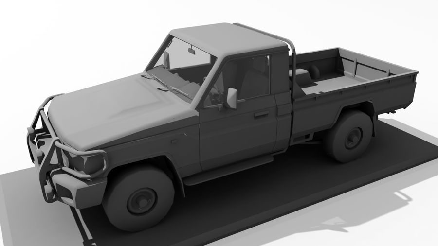 Land Cruiser royalty-free 3d model - Preview no. 6