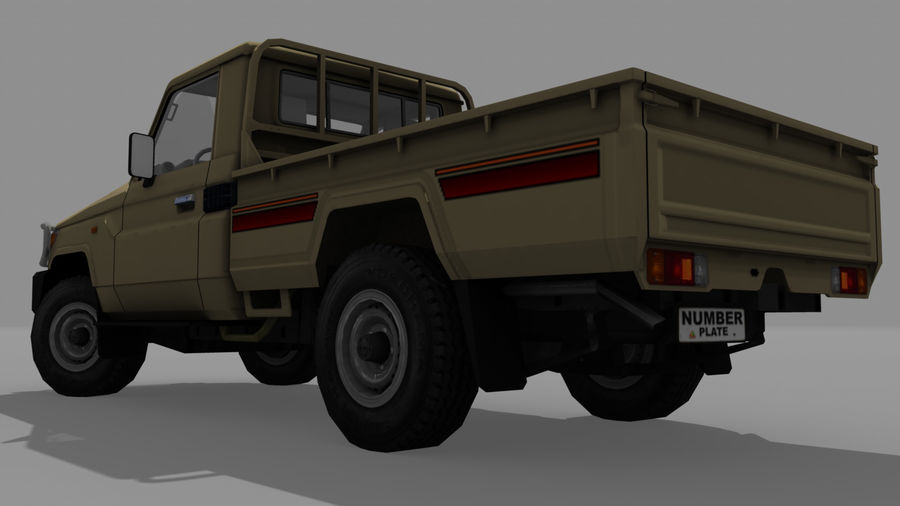 Land Cruiser royalty-free 3d model - Preview no. 4