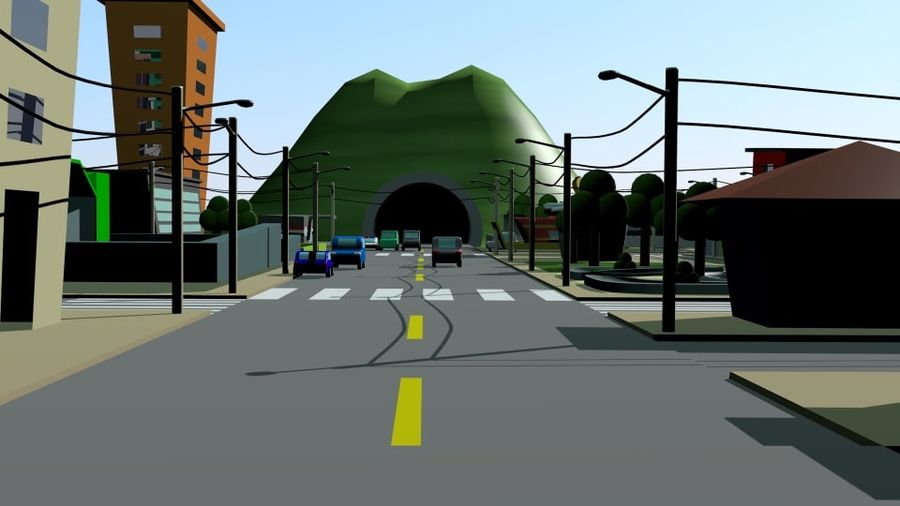 Cartoon City royalty-free 3d model - Preview no. 8