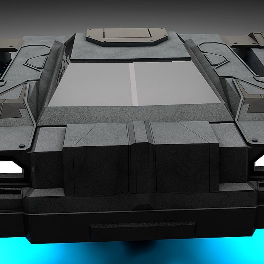 Tank Transport royalty-free 3d model - Preview no. 4