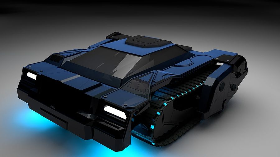 坦克运输 royalty-free 3d model - Preview no. 2