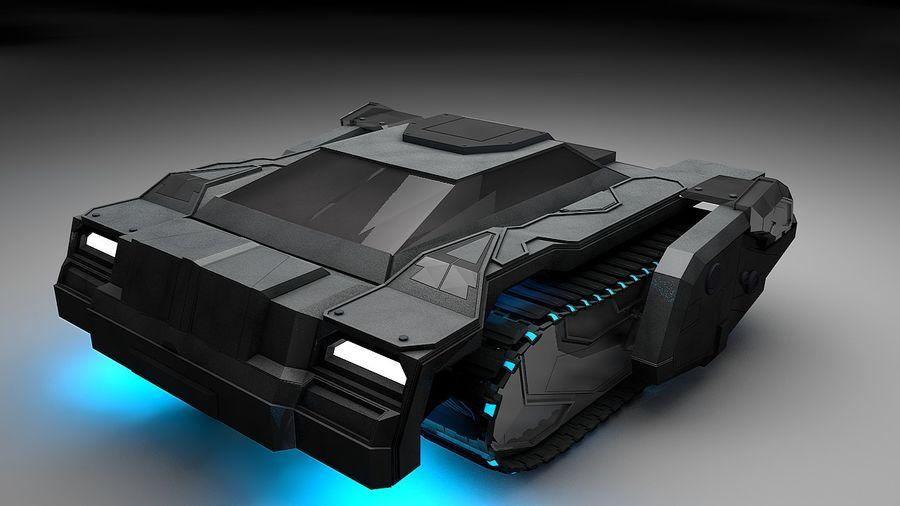 坦克运输 royalty-free 3d model - Preview no. 5