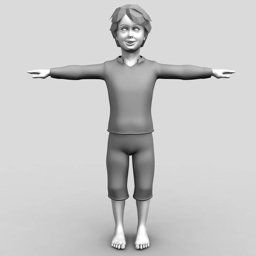 Menino 3d royalty-free 3d model - Preview no. 1