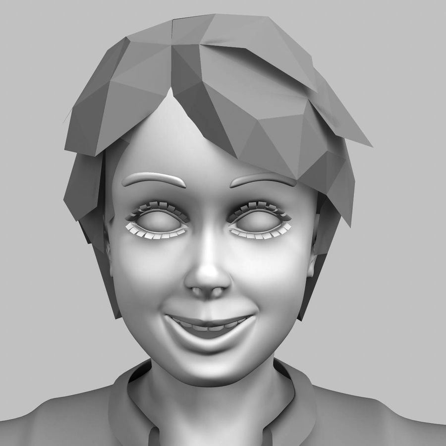 Menino 3d royalty-free 3d model - Preview no. 2