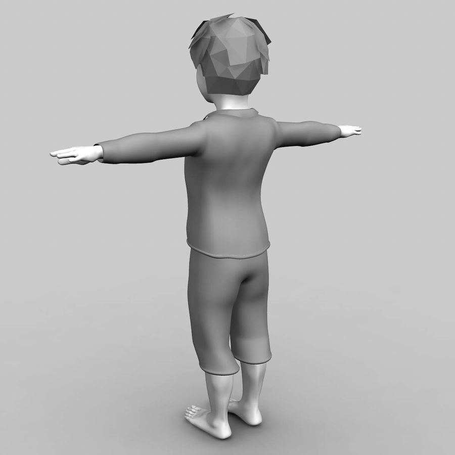 Menino 3d royalty-free 3d model - Preview no. 4