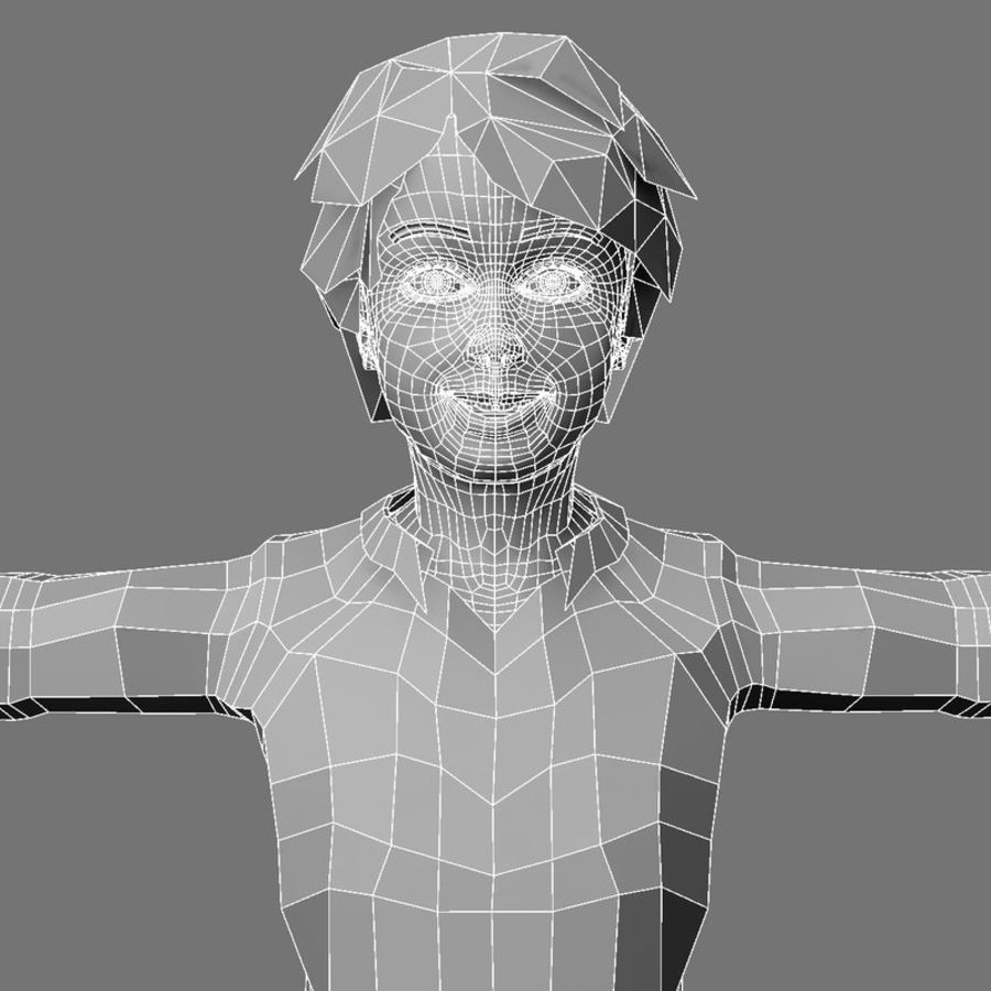 3d boy royalty-free 3d model - Preview no. 7
