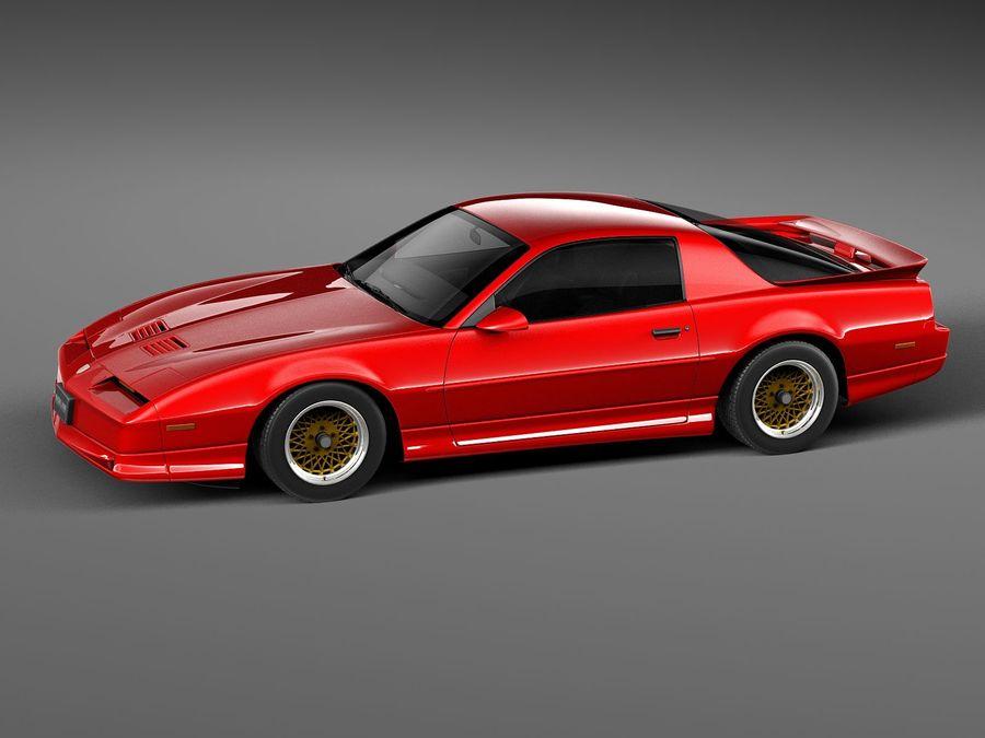 폰티악 파이어 버드 트랜스 오전 1988-1990 royalty-free 3d model - Preview no. 12