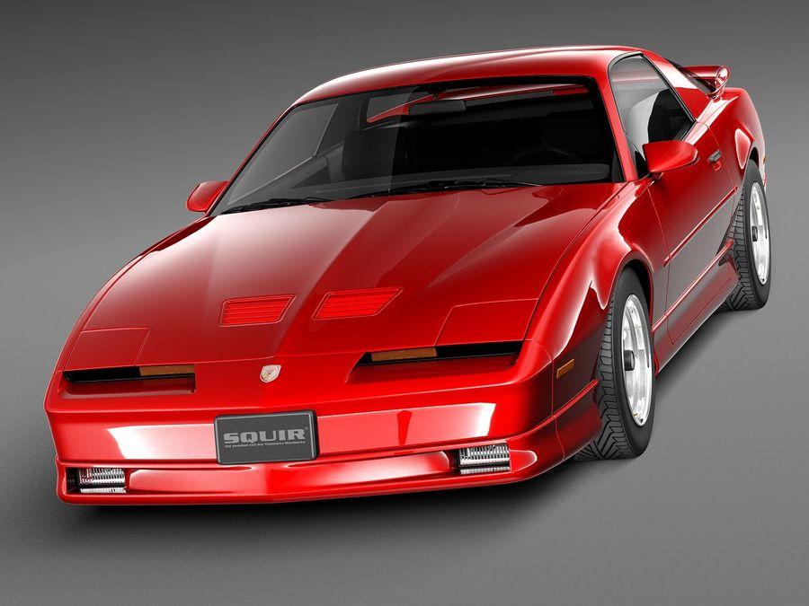 폰티악 파이어 버드 트랜스 오전 1988-1990 royalty-free 3d model - Preview no. 2