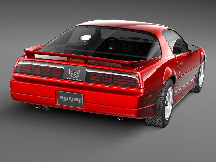 폰티악 파이어 버드 트랜스 오전 1988-1990 royalty-free 3d model - Preview no. 6