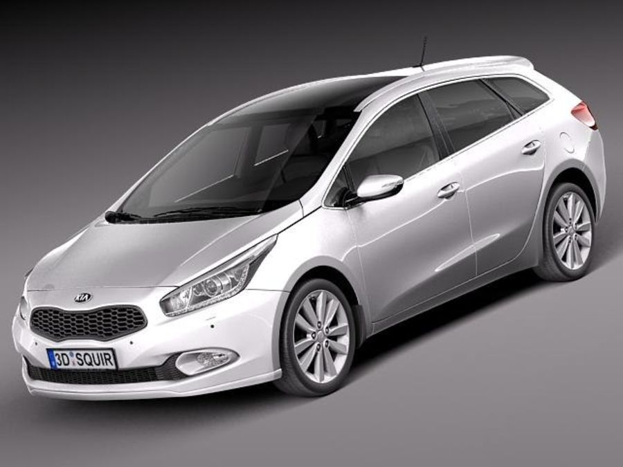 Kia Ceed SW 2013 royalty-free 3d model - Preview no. 1