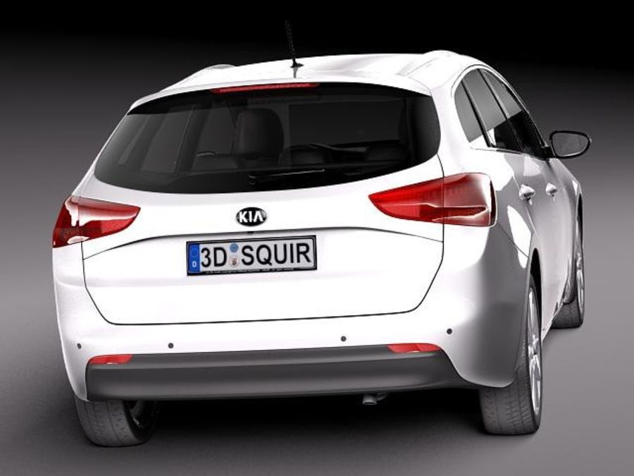 Kia Ceed SW 2013 royalty-free 3d model - Preview no. 6