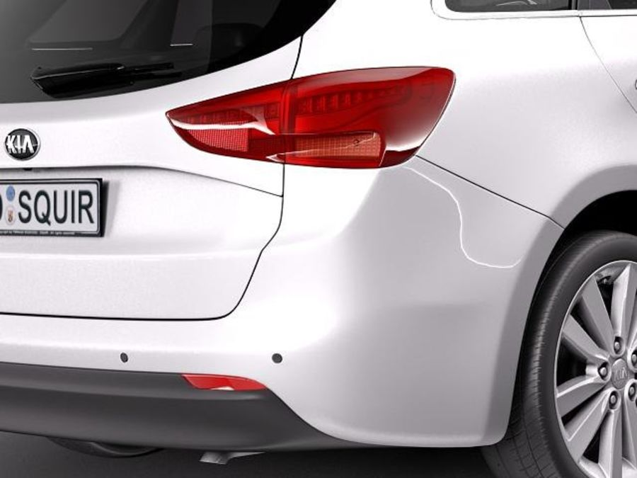 Kia Ceed SW 2013 royalty-free 3d model - Preview no. 4