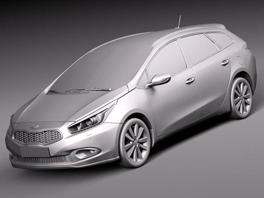 Kia Ceed SW 2013 royalty-free 3d model - Preview no. 9