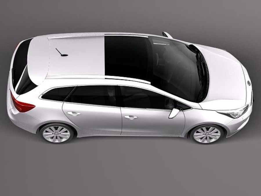 Kia Ceed SW 2013 royalty-free 3d model - Preview no. 8