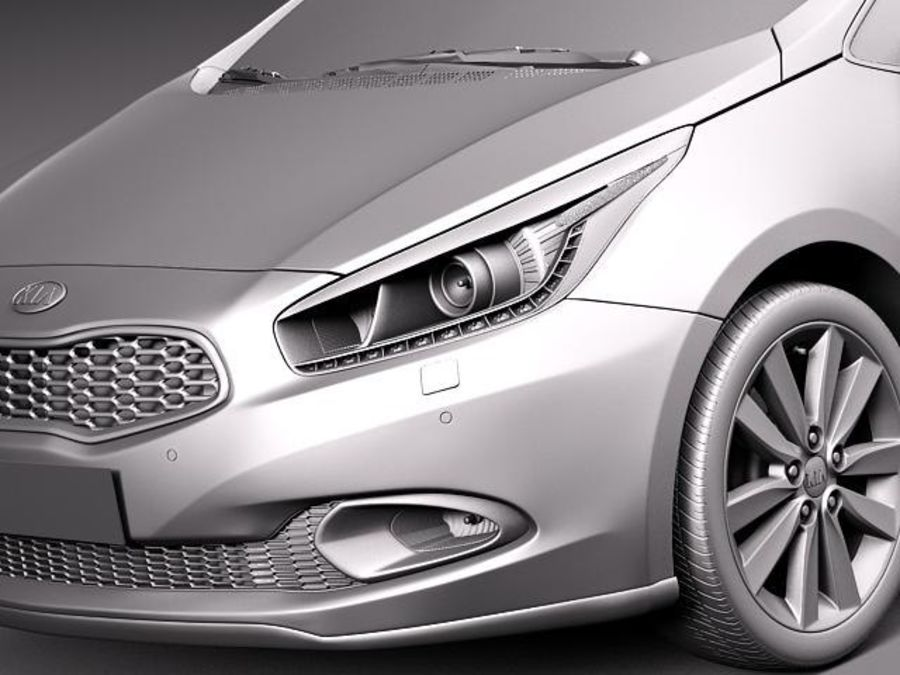 Kia Ceed SW 2013 royalty-free 3d model - Preview no. 10