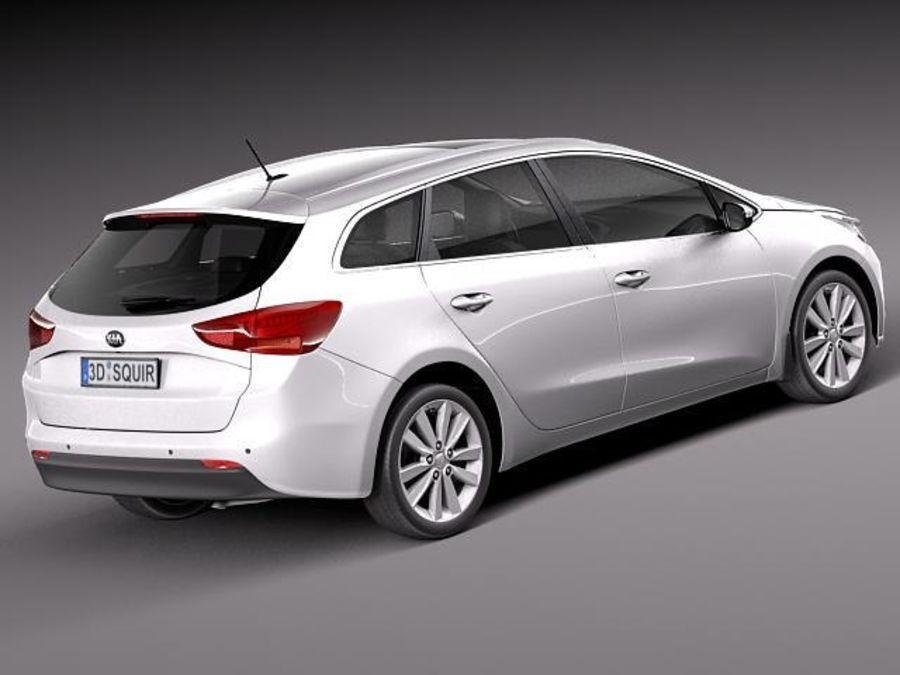 Kia Ceed SW 2013 royalty-free 3d model - Preview no. 5