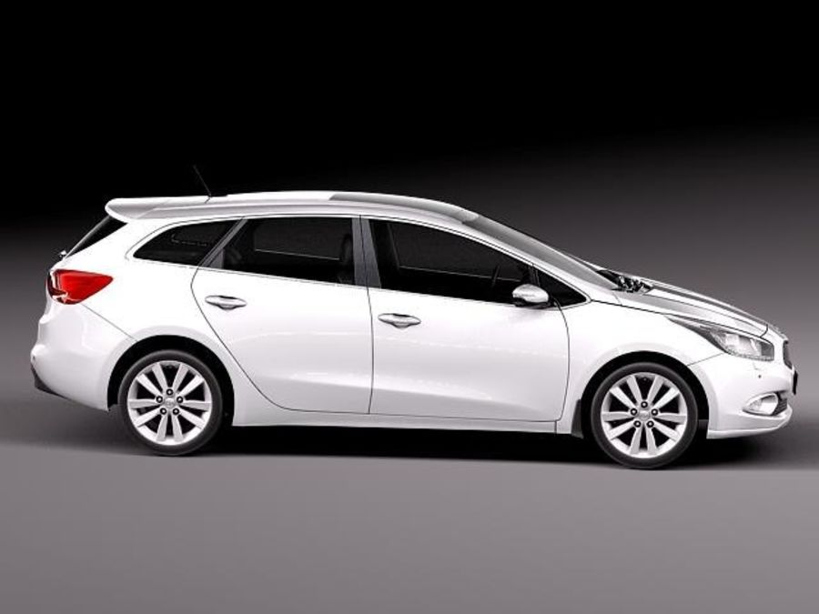 Kia Ceed SW 2013 royalty-free 3d model - Preview no. 7