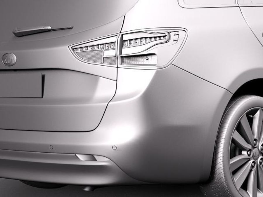 Kia Ceed SW 2013 royalty-free 3d model - Preview no. 11