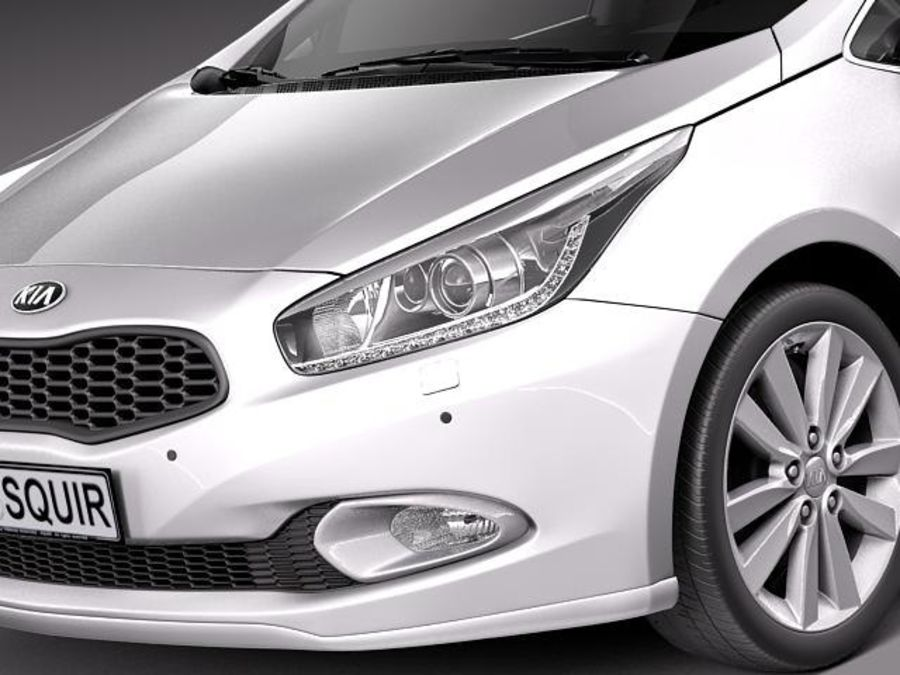 Kia Ceed SW 2013 royalty-free 3d model - Preview no. 3