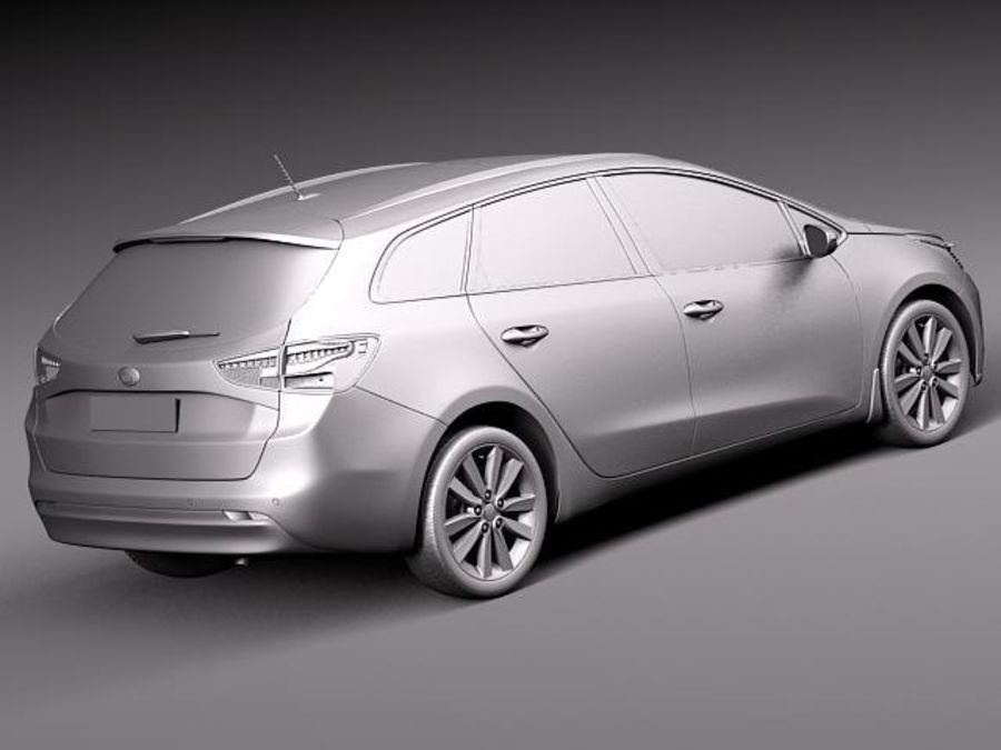 Kia Ceed SW 2013 royalty-free 3d model - Preview no. 12