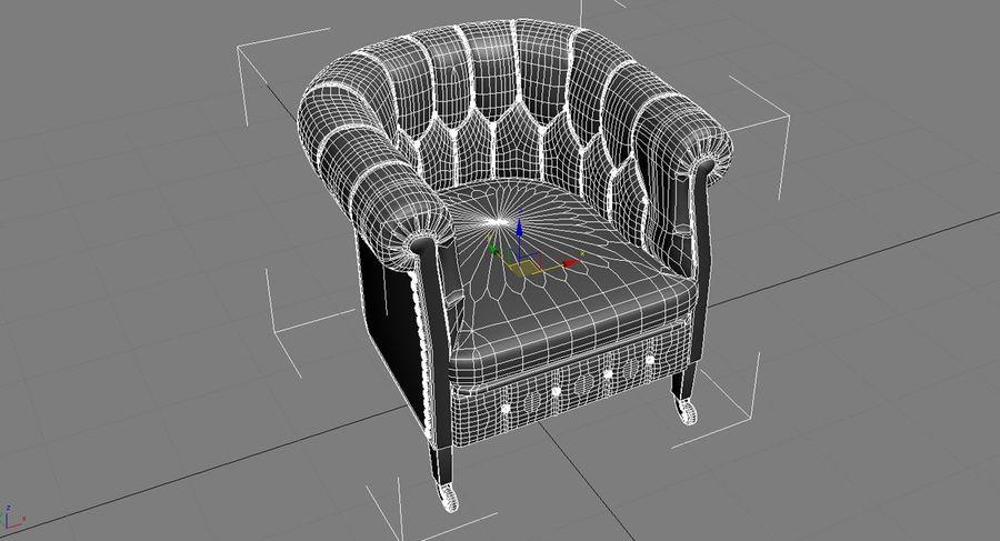 Chester Stuhl Klassiker royalty-free 3d model - Preview no. 2