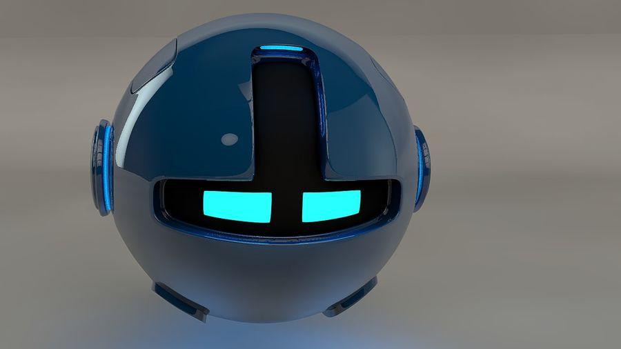 Blue Robot Pod V2 royalty-free 3d model - Preview no. 2