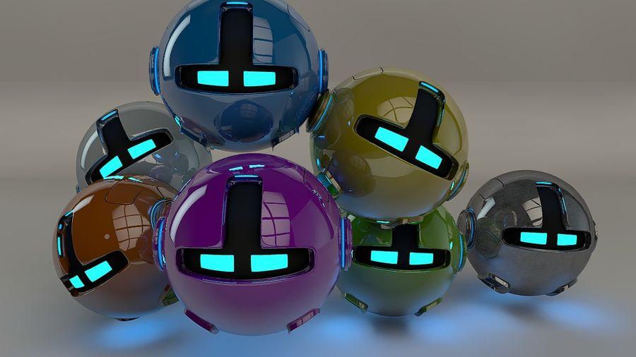 Blue Robot Pod V2 royalty-free 3d model - Preview no. 4