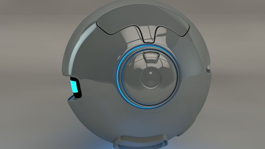 Blue Robot Pod V2 royalty-free 3d model - Preview no. 5