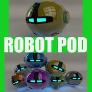 Yellow Robot Pod V2 3d model