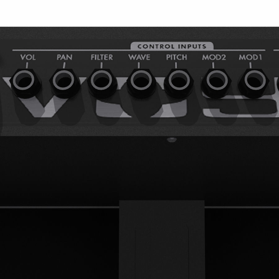 Keyboard / Synthesizer: Moog Voyager royalty-free 3d model - Preview no. 5