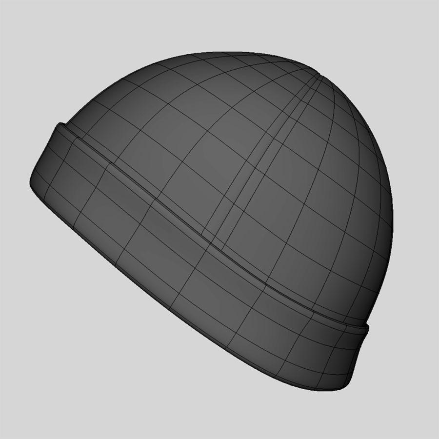 Skull Cap royalty-free 3d model - Preview no. 9