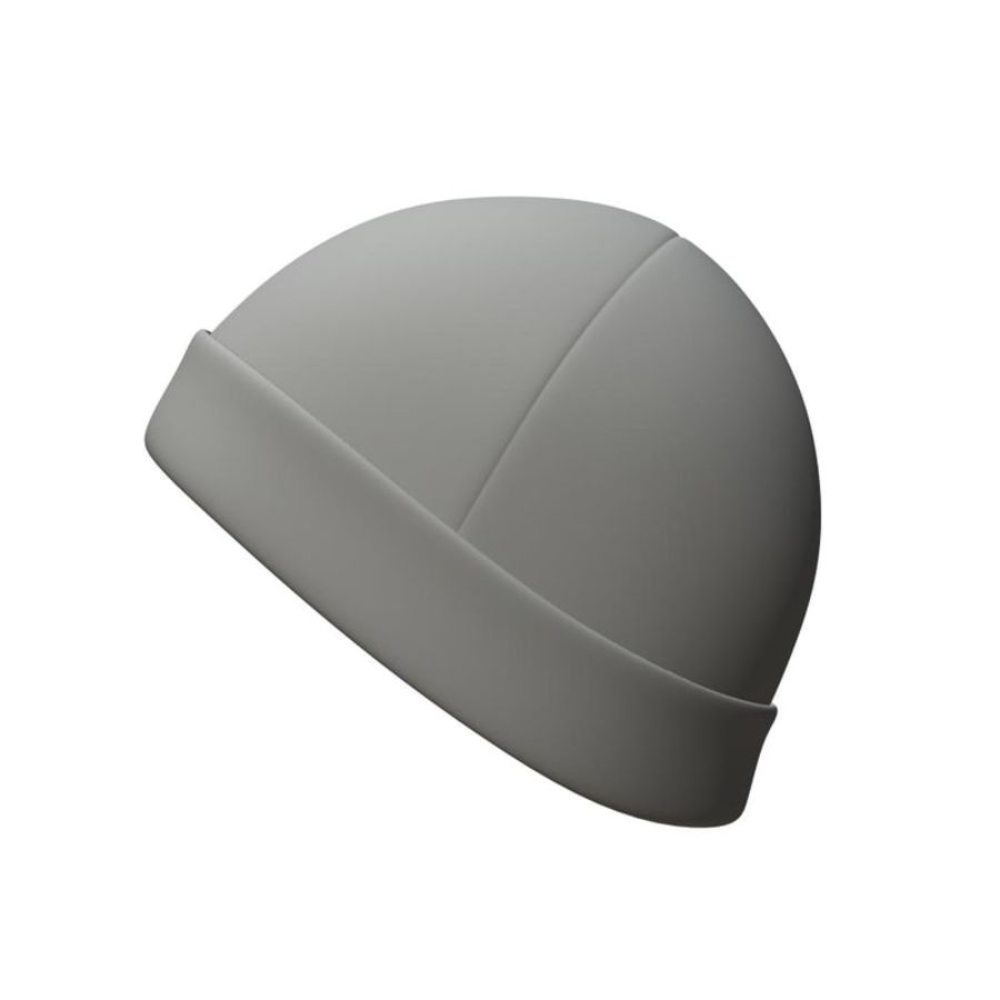 Skull Cap royalty-free 3d model - Preview no. 3