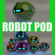 Zielony robot Pod V2 3d model