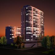 High Rise Building 3d model