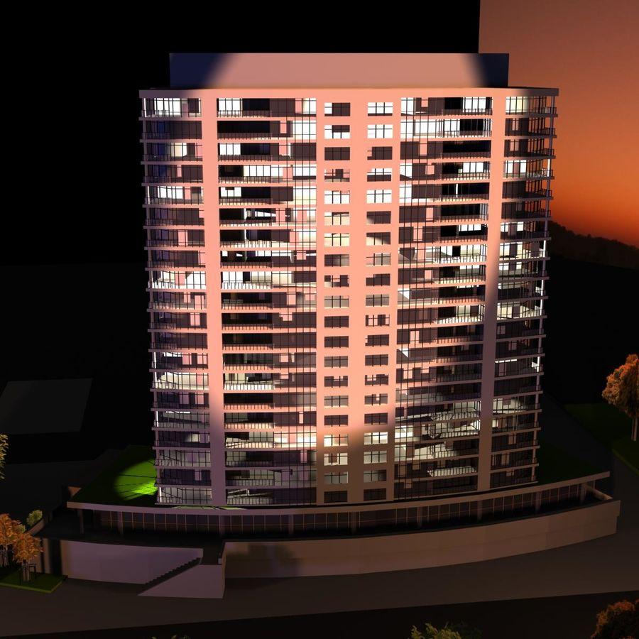 Edificio alto royalty-free modelo 3d - Preview no. 5