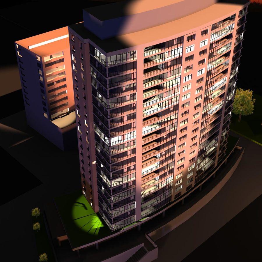 高层建筑 royalty-free 3d model - Preview no. 3