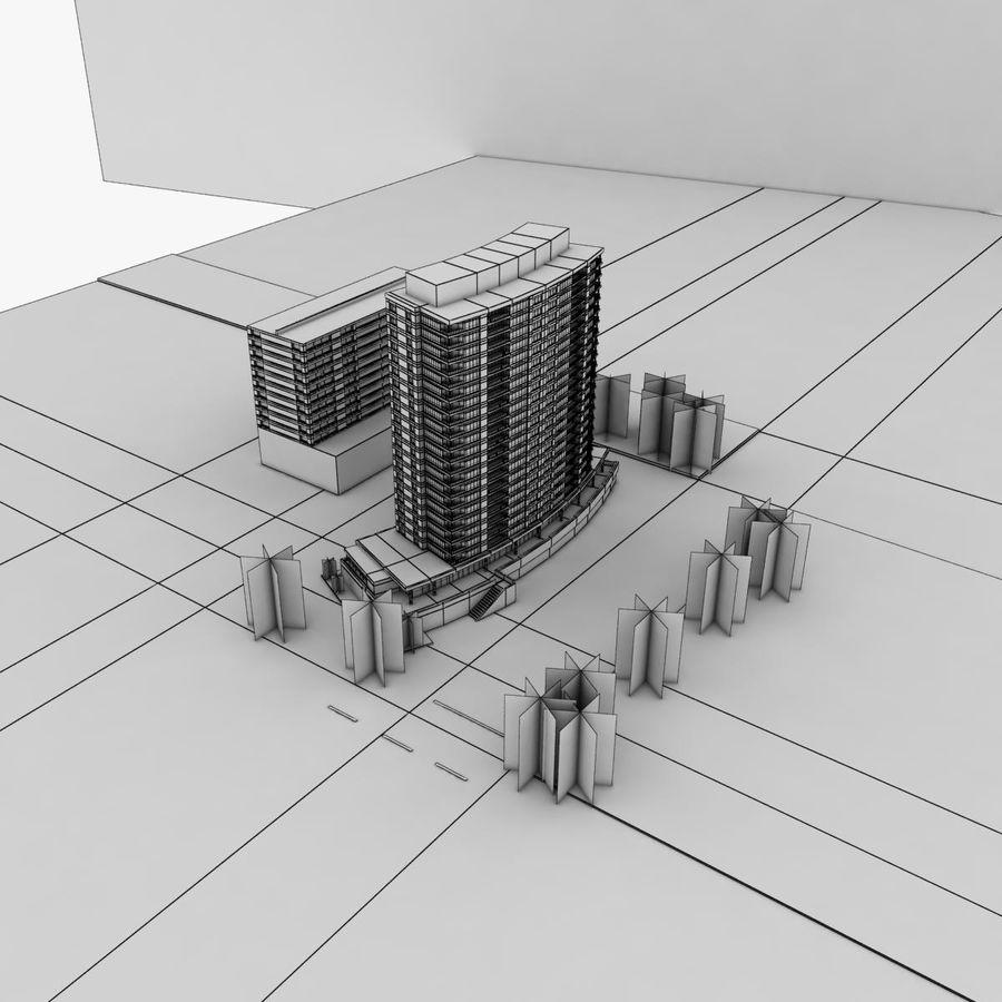 高层建筑 royalty-free 3d model - Preview no. 8