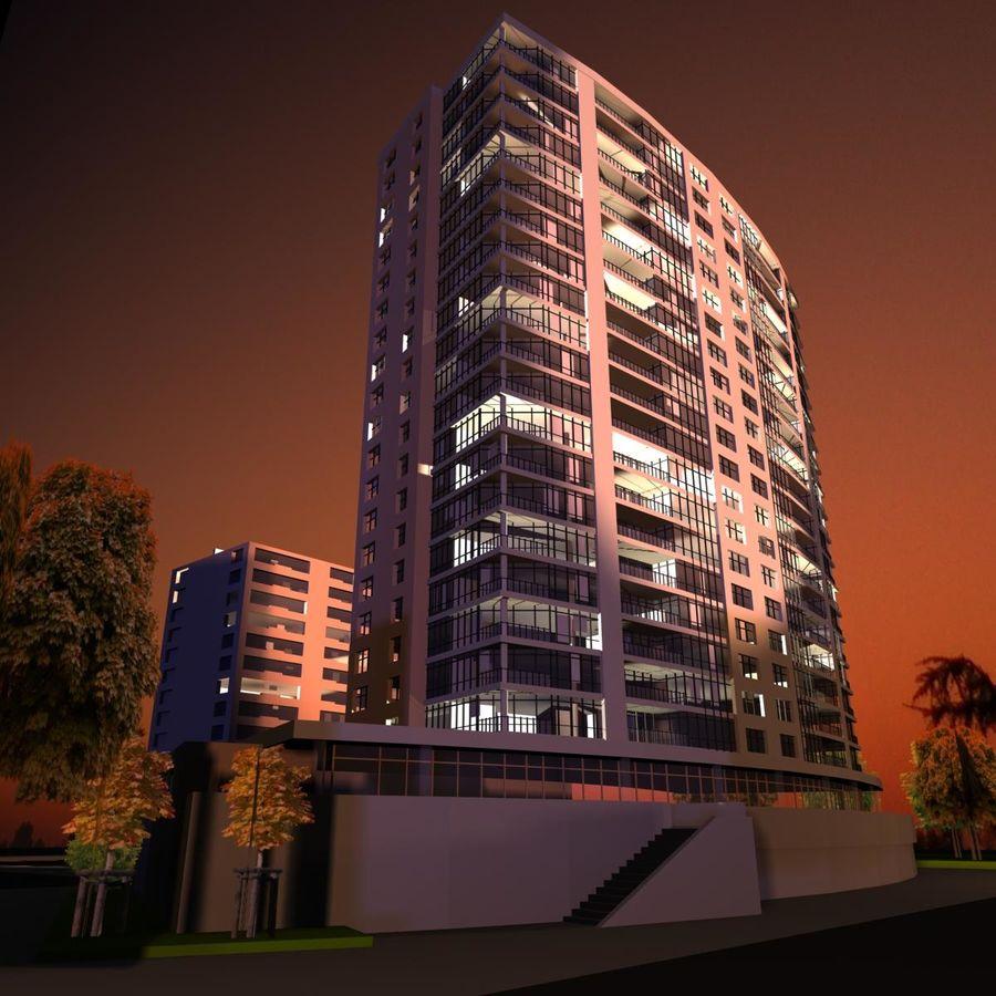 高层建筑 royalty-free 3d model - Preview no. 2