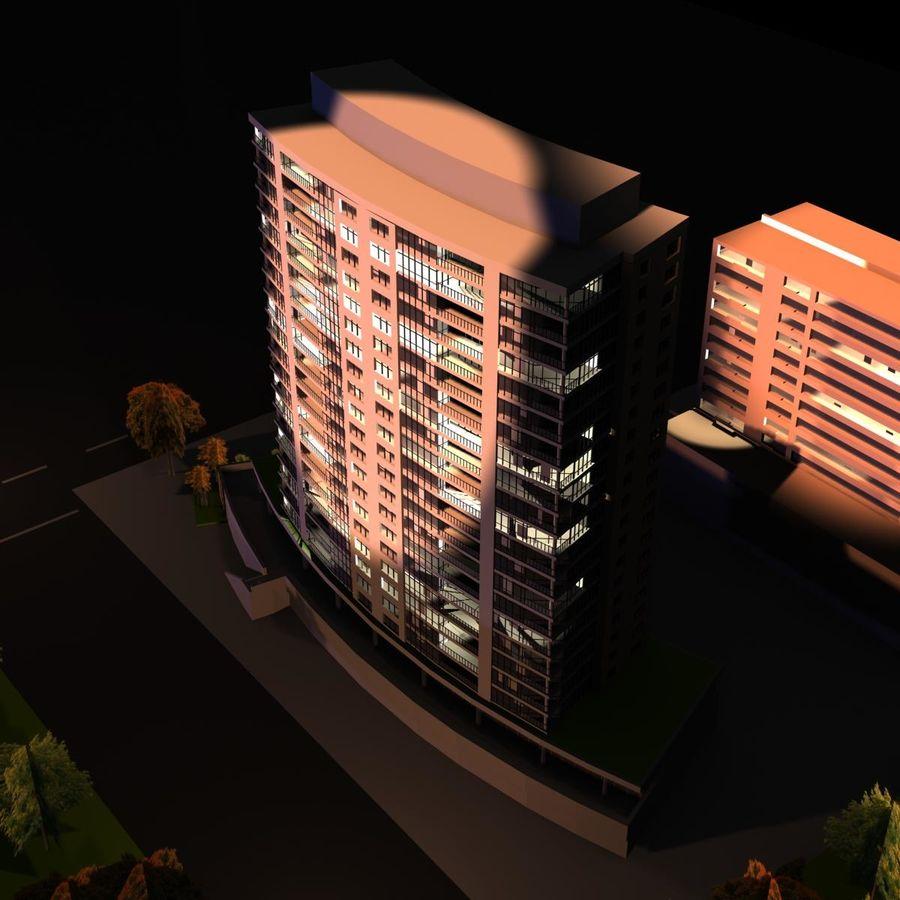 高层建筑 royalty-free 3d model - Preview no. 4