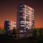高层建筑 3d model