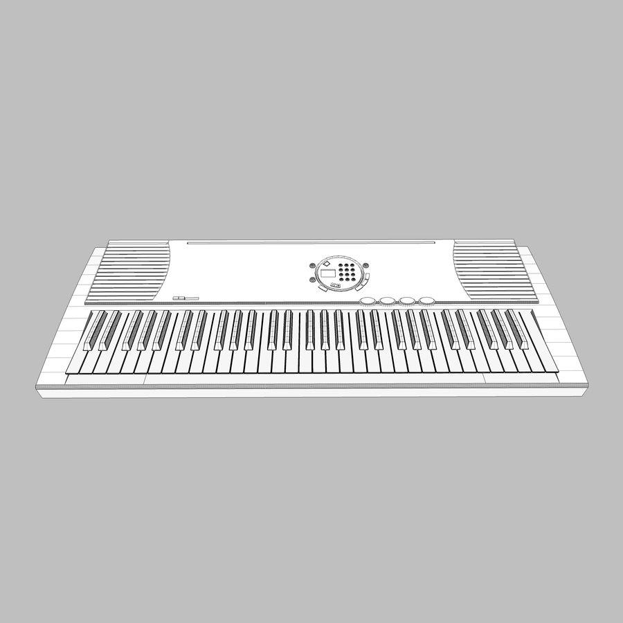 Keyboard: Yamaha PSR-180 royalty-free 3d model - Preview no. 16