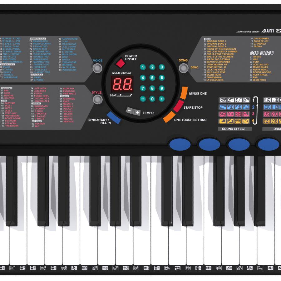 Keyboard: Yamaha PSR-180 royalty-free 3d model - Preview no. 7