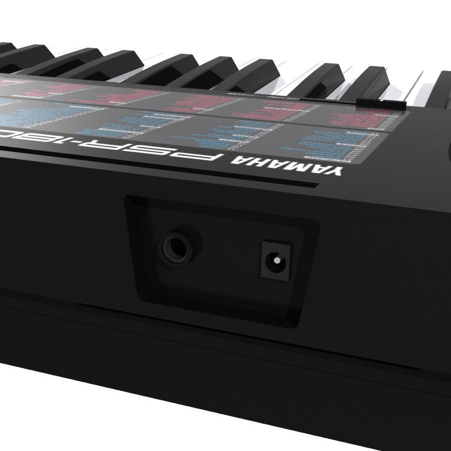 Keyboard: Yamaha PSR-180 royalty-free 3d model - Preview no. 11