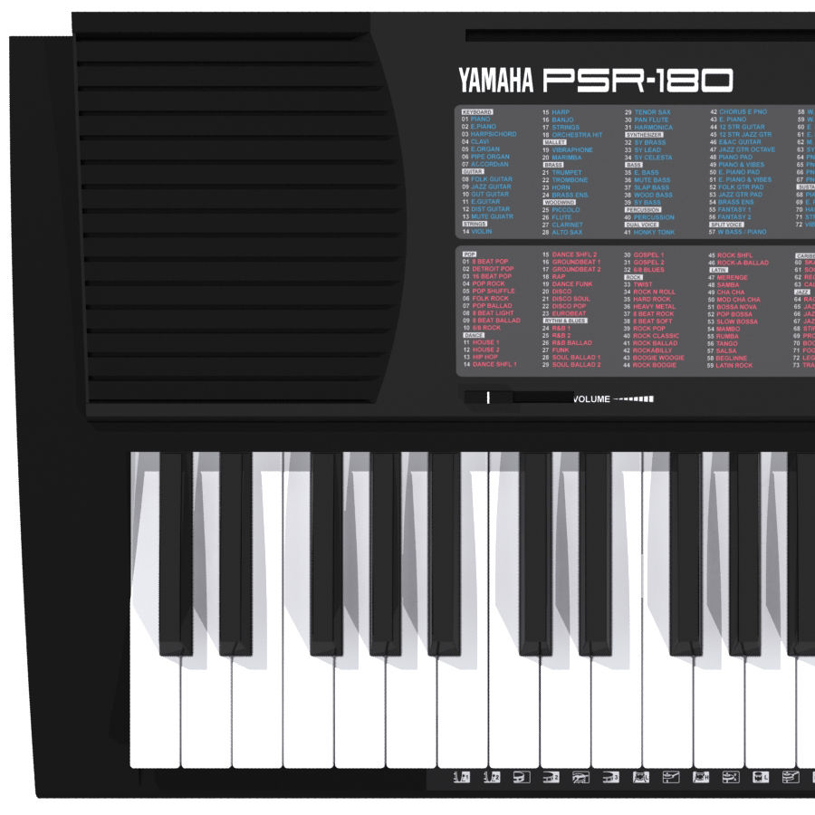 Keyboard: Yamaha PSR-180 royalty-free 3d model - Preview no. 6