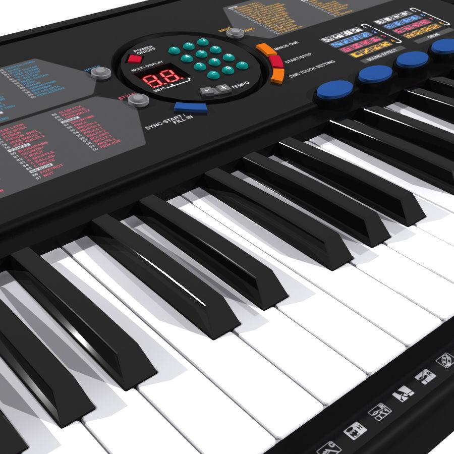 Keyboard: Yamaha PSR-180 royalty-free 3d model - Preview no. 1