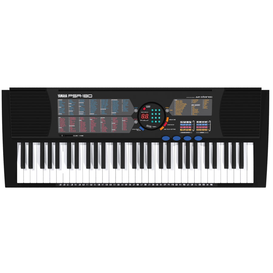 Keyboard: Yamaha PSR-180 royalty-free 3d model - Preview no. 2