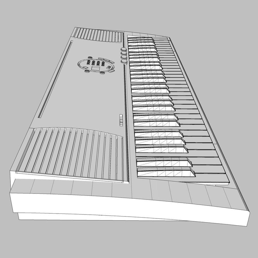 Keyboard: Yamaha PSR-180 royalty-free 3d model - Preview no. 17