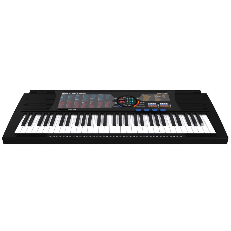 Keyboard: Yamaha PSR-180 royalty-free 3d model - Preview no. 9