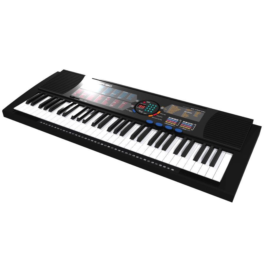 Keyboard: Yamaha PSR-180 royalty-free 3d model - Preview no. 3